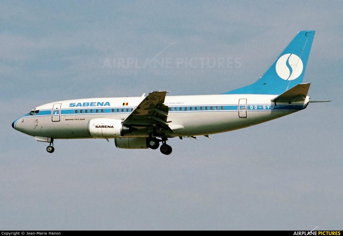 Sabena OO-SYJ aircraft at Brussels - Zaventem