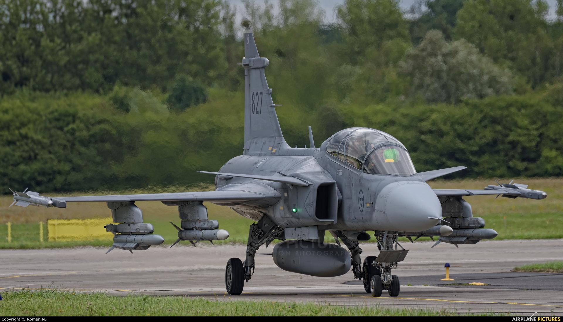 Sweden - Air Force 39827 aircraft at Gdynia- Babie Doły (Oksywie)